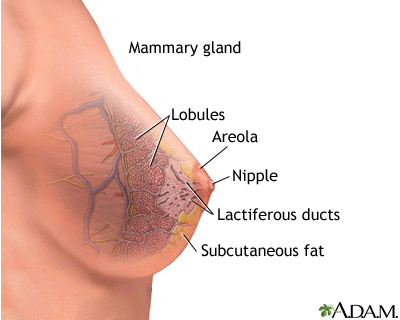 Breast changes due to aging