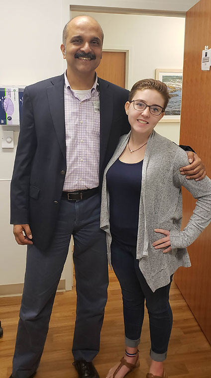 Brooklynn is seen with Dr. Giridhar Kalamangalam nearly five months after her temporal lobe resection. She has now been seizure-free for almost nine months.