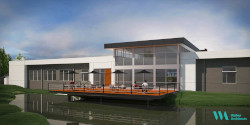 Rendering of the Norman Fixel Institute for Neurological Diseases at UF Health