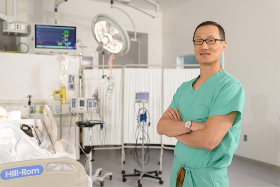 Dr. Calvin Choi – one of the members of the interventional cardiology team.