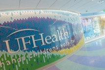 Entrance of UF Health Shands Children's Hospital