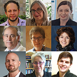 The NDEWS coordinating center team includes (top row, from left): Dr. Elan Barenholtz, Dr. Linda Cottler, Nicole Fitzgerald, (middle row) Dr. Bruce Goldberger, Tamara Millay, Dr. Sara Jo Nixon, (bottom row) Dr. Joseph Palamar, Dr. Catherine Striley and Sean Taylor