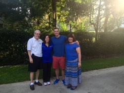 Dr. Richard Bucciarelli, with his children Amy and Chris and wife Lynda, was a longtime faculty member in the UF College of Medicine department of pediatrics and served as chairman of the department from 2008 until 2011.