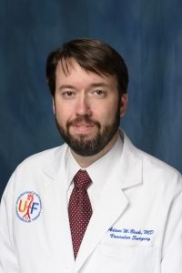 Adam Beck, M.D., a UF Health vascular surgeon and an assistant professor in the UF College of Medicine's department of surgery