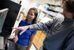 UF professor Hendrik Luesch and Lilibeth Salvador, a researcher in Luesch's Marine Natural Products lab, have isolated a marine compound that may improve the treatment of people with lung diseases.