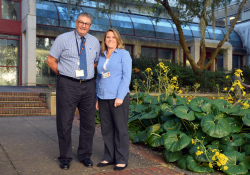 Cesar Migliorati, D.D.S., left, and Denise Schentrup, D.N.P., will lead a project to help underserved populations in Florida.