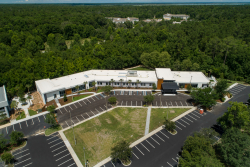 Aerial view of the Norman Fixel Institute for Neurological Diseases at UF Health, which will soon expand thanks to a gift from the Lauren and Lee Fixel Family Foundation.