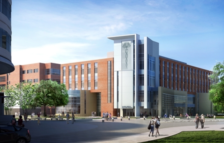Sketch of new George T. Harrell, M.D., Medical Education Building