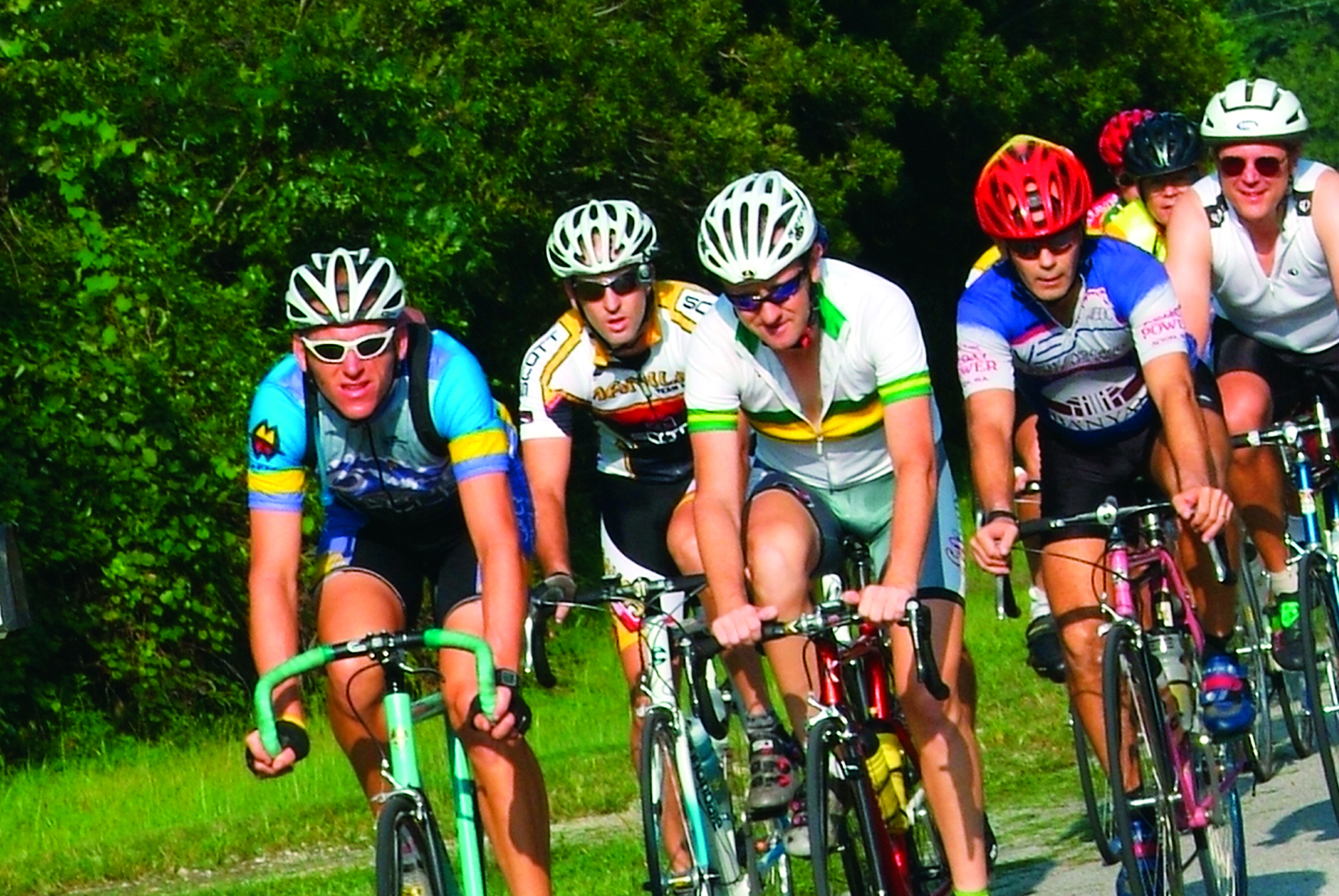 Bikers cycling in Gainesville Florida