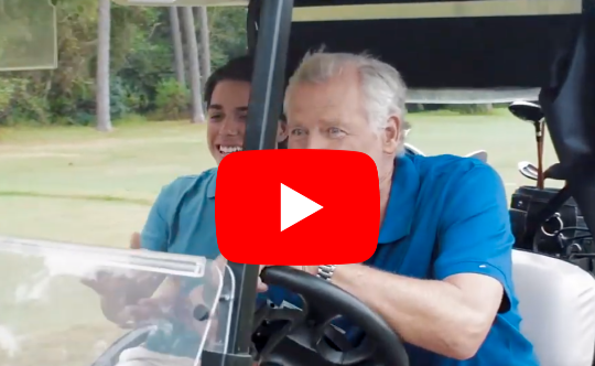 Grandpa needed a joint replacement to help get his golf game back on par. Learn more about his experience with our joint replacement team here.