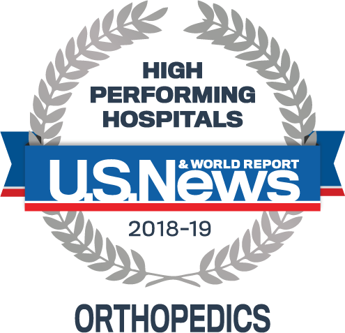 U.S. News & World Report High Performing Badge -Orthopedics