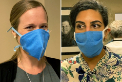 UF Health workers are crafting masks out of materials already available in medical facilities.