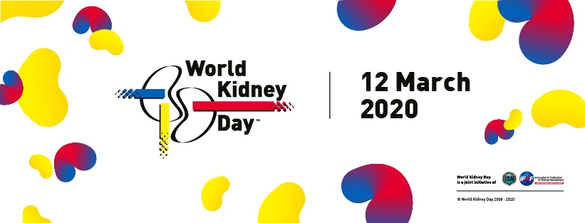 graphic text reads world kidney day 12 march 2020