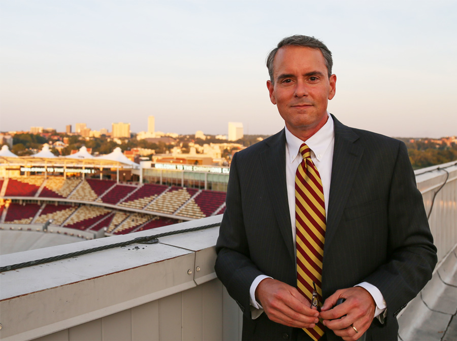 Bill on top of Doak Campbell Stadium in Tallahassee