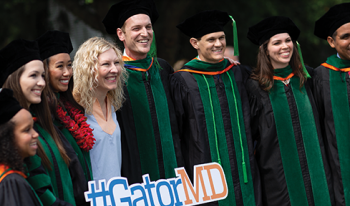 Students from the UF College of Medicine class of 2018 receive medical degrees during annual commencement ceremony May 19.
